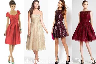 Модные Новогодние платья 2016 15