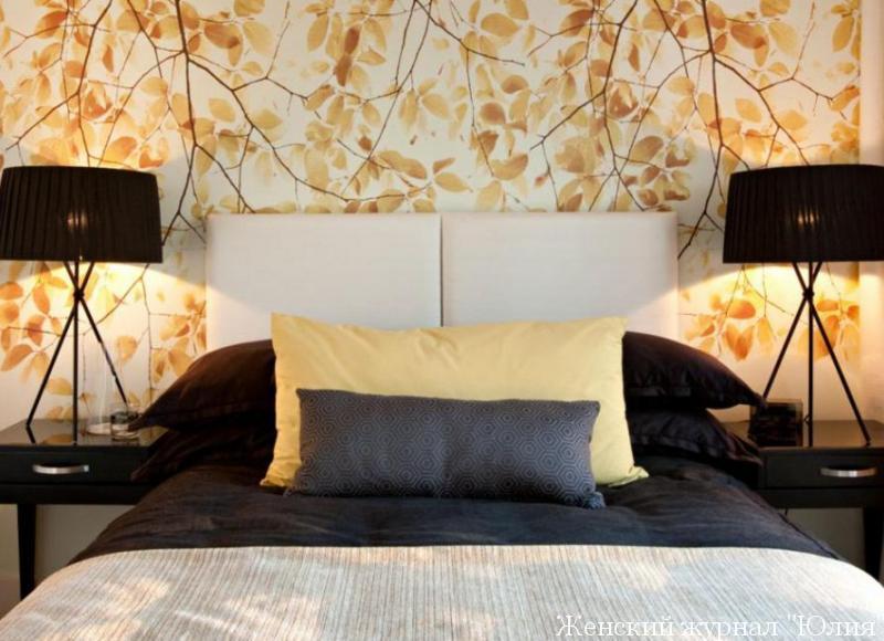фото модных и стильных обоев для спальни 2016 9